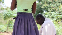 The back of a woman standing in Uganda
