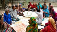 A planning session at a village
