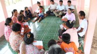 a self-help group meeting
