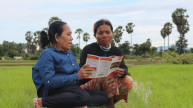 Two women learning about disability rights