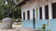 The outside of a classroom