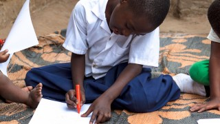 A student at an inclusive education school in Tanzania