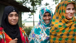 A group of disability activists in their village in rural Bangladesh